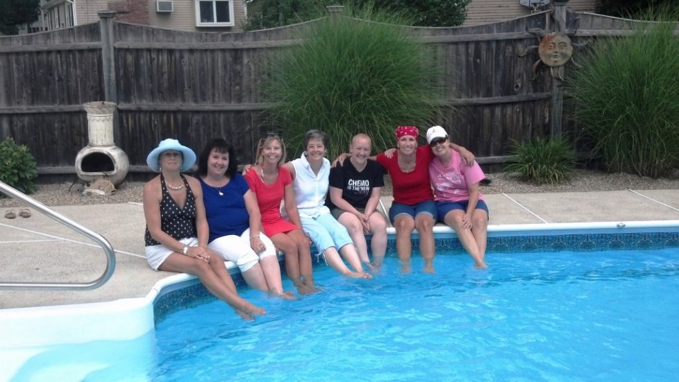 Pool Party for Hope and Friendship Metastatic Breast Cancer Support Group Members Massachusetts