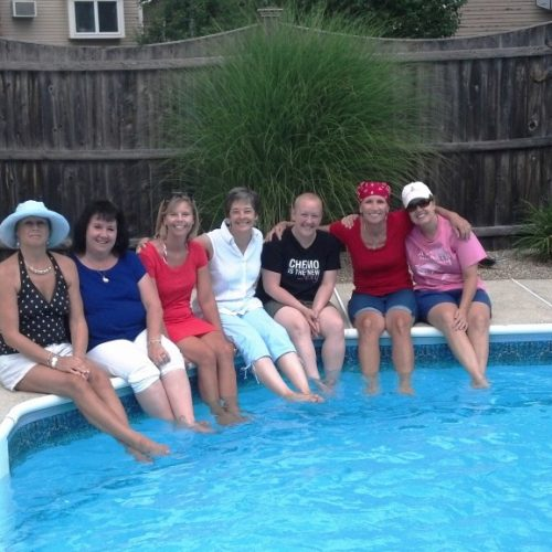 Breast cancer support group pool party 2014