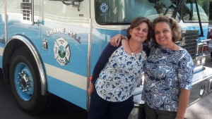 MBCN 2014 Linda and I with firetruck (2)