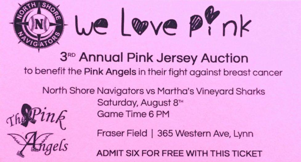 Pink Angels North Shore Navigators Baseball Game 2015
