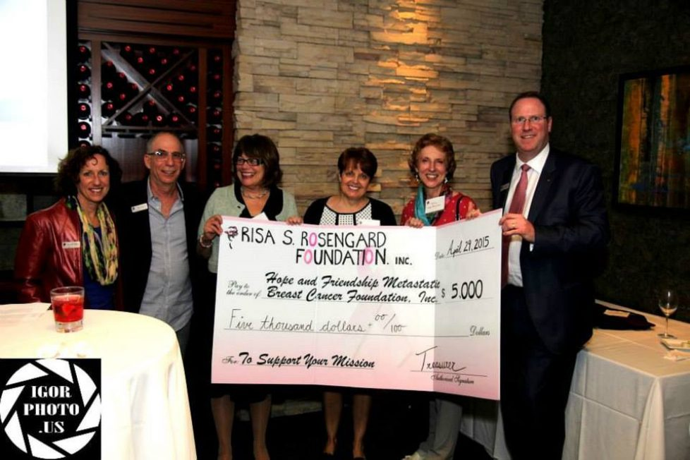 Risa S. Rosengard Grant Received by Hope and Friendship Metastatic Breast Cancer Foundation for 1st Annual Family Event Massachusetts