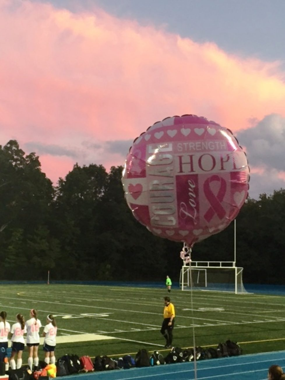 Wilmington vs. Stoneham Kick Cancer Soccer Game to support Hope and Friendship Metastatic Breast Cancer Foundation 2016 Massachusetts