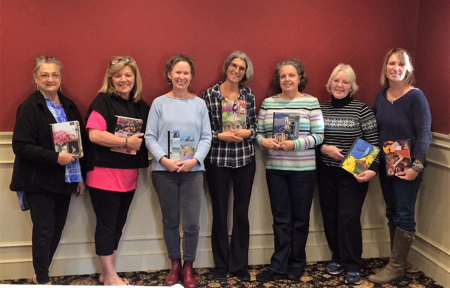Capturing thoughts with Decoupage Journals at the Fall 2018 Retreat at Stonehedge Hotel & Spa in Tyngsboro, MA!