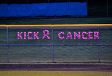 Stoneham/Wilmington H. S. Kick Cancer Pink Soccer Boys and Girls Teams 2018 support the Hope and Friendship Metastatic Breast Cancer Foundation