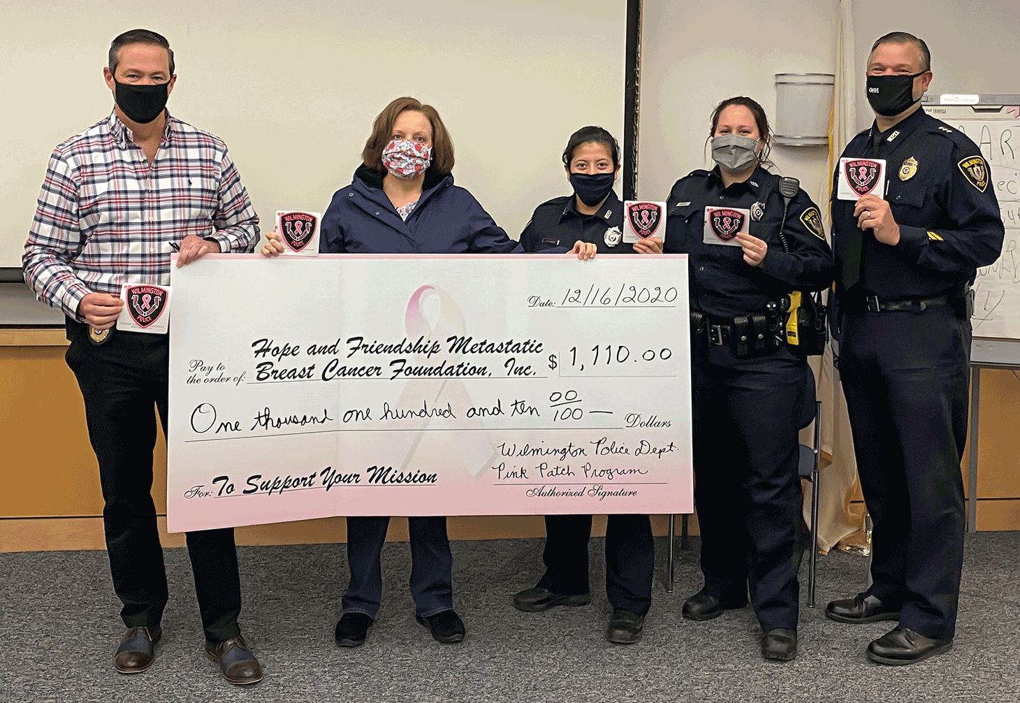 Wilmington Police Dept supports pink patch program